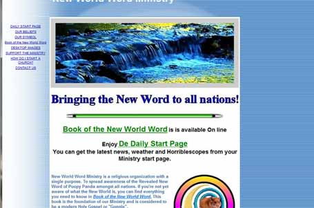 Screen shot of website created on Triplod.com